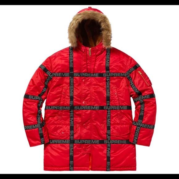 fa3377e1 Supreme Jackets & Coats | Logo Tape N3b | Poshmark